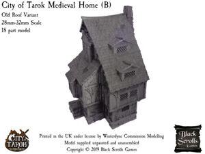City of Tarok Medieval Home (B) 28mm/32mm medieval fantasy building
