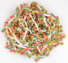 1/5YBall Rainbow PomPom Bobble Trim Braid Fringe Ribbon Craft Decor orange 2.5CM