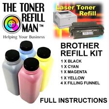 Use In BROTHER HL-3140CW Toner Refill Kit TN245, TN-245,TN241,TN-241 BK,C,M,Y