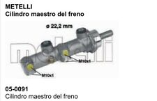 050091 Metalli Cilindro maestro del freno Fiat Croma Lancia Thema Alfa ROMEO 164
