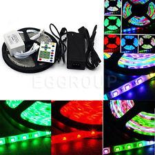 SMD-5050 300-1200 LED Lamps Strip Flexible String Lights Tape Rope +Remote +Plug