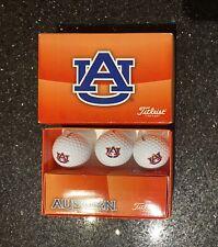 Titleist Auburn University Tigers Golf Ball  Pack of 3  NCAA Open Box Unused
