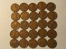 Roll 1939 S Lincoln Wheat Cents Penny in Good or Better Condition 50 Coins