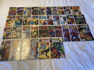 Spectacular Spider-Man Comic Book Lot 145, 263, Etc. 36 Books