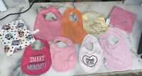 Baby Girl Lot Bibs Nursing Blanket Carters Disney Minnie Mouse Bib Burp Cloth