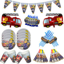 Fireman Sam Birthday Party Balloon Decorations Napkins Plates Cake Firefighters