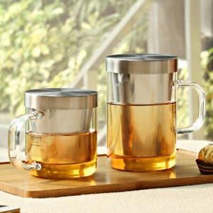 Glass Tea Infuser Mug / Loose Leaf Teapot with Strainer 350-500ml (Samadoyo)