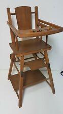 Chaise bébé en bois ancienne années 60