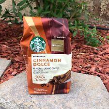 Starbucks Cinnamon Dolce Flavored Ground Coffee Sweet & Mellow New 11oz Bag
