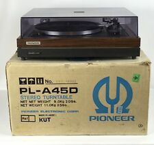 Pioneer PL-A45D Belt Drive-Fully Auto Turntable, Original Box, Manual