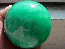100MM Glow In The Dark Stone crystal Fluorite sphere ball Hot + stand #