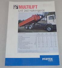 Prospekt / Broschüre Multilift LHT 260 Hakengerät Stand 06/2000