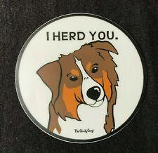 Love My Australian Shepherd Bumper Sticker or Helmet Sticker D7165 Bone