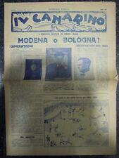 Il Canarino. Modena 8 gennaio 1928. Numero unico. 4 pp ill.
