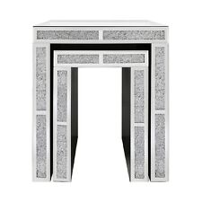 Tuscany Nest of 2 Mirrored Table with Swarovski Crystals