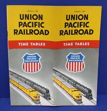 Union Pacific Passenger Time Table January 1, 1951 Exc Super nice Condition!