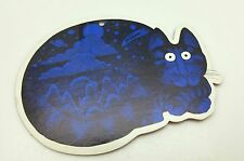 B.Kliban Blue Cat Die Cut Ornament Red Backing