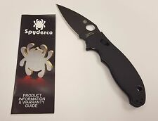 Spyderco Knives Manix 2 Flat Ground Knife S30V Blade G10 Handle - C101GPBBK2