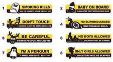 5 Different Fun Stickers - JDM window turbo drift bumper vinyl decal car tuning