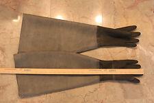 Shoulder Length Black Latex Rubber Safety Gloves Gummihandsch 70 cm / 28 in Long