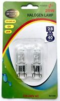 G9 28w = 40w Halogen Bulbs DIMMABLE Long Life Capsule Lamps 2 Pack