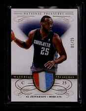 Al Jefferson National Treasures GOLD 3-Color Jersey Patch #1/25! First One! 1/1?