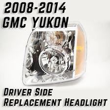 2007-14 GMC Yukon Chrome Driver Side LH Replacement Headlight GM390-B001L