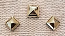 Hermes Permabrass Gold 3 Piece Pyramid Medor Stud Twilly Scarf Ring Brand New