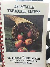 Thomas More Altar Rosary Society Delectable Treasured Recipes Munster Indiana