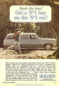 1966 HD HOLDEN WAGON A3 POSTER AD SALES BROCHURE ADVERTISEMENT ADVERT