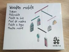 Sebra Wooden Cot / Nursery Mobile Village Girl RRP £25 - New In Sealed Box