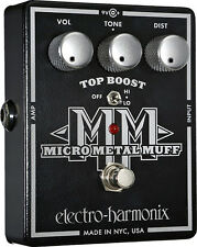 Electro-Harmonix EHX Micro Metal Muff Distortion Top Boost Guitar Effects Pedal