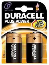 Alkaline Battery R20 (D) 1.5V Duracell Plus Long Lasting Power 2 Pieces Blister