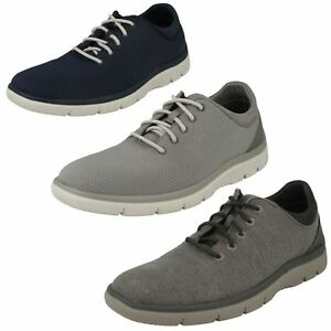 MENS CLOUDSTEPPERS CLARKS TUNSIL ACE LACE UP CASUAL TRAINERS WALKING SHOES SIZE