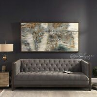 """URBAN MODERN XXL 70"""" BEHIND THE FALLS CANVAS ABSTRACT PAINTING FRAMED WALL ART"""