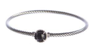 DAVID YURMAN Women's Chatelaine Bracelet with Black Onyx 3mm $350 NEW
