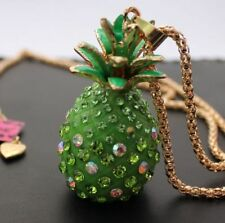 Betsey Johnson  $9.99 crystal Pineapple necklace & Free Gift