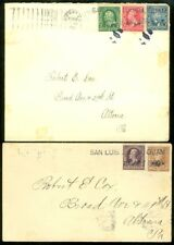 EDW1949SELL : GUAM Very Scarce pair of matching 1900 covers from Guam to USA.