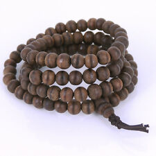 Bracelet/Necklace Vietnam Agarwood Mala Buddhism 108 Prayer/Meditation 6mm Beads