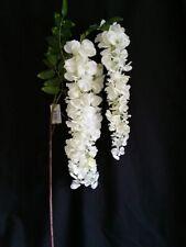 3 Head Trailing Artificial Wisteria Branch x 120cm - Ivory Flower Vine Wedding