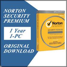 Symantec Norton Security Premium 2020 Antivirus Windows Version 1 Year / 1 PC