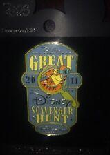 Disney Pin D23 Tigger Great Scavenger Hunt 2011 Wdw Pooh Destination D Le 500