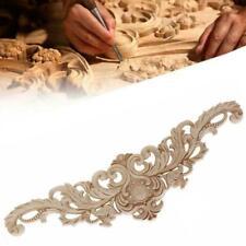 Wood Carved Corner Onlay Applique Unpainted Frame Decal Decors Furniture J8K4