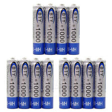 12x AAA 1000mAH 1.2V NiMH Recharge Rechargeable Battery
