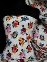 Polar fleece-anti pill fabric owl Q1114 OWL