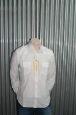 191 Unlimited White Solid Military Button-Up NWT XL