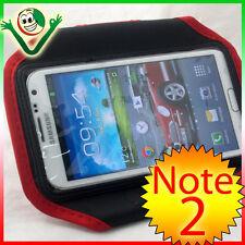 Armband per Samsung Galaxy NOTE 2 N7100 custodia fascia braccio sport Rossa Nera