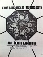 """Doctor Who Fanzine Tom Baker From 1984 """" The Word & Wisdom Of Tom Baker"""""""