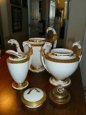 Antique Limoges - Griffin - Tea Pot/Creamer/Sugar - A. Lanternier -Gold- France
