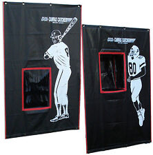 New Baseball Football Target Practice Backstop.Strike Zone.Pass Training.2-in-1